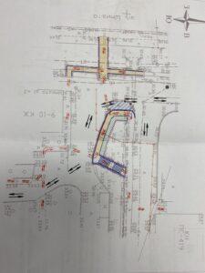 Схема пешеходного движения Шмидта до гипермаркета